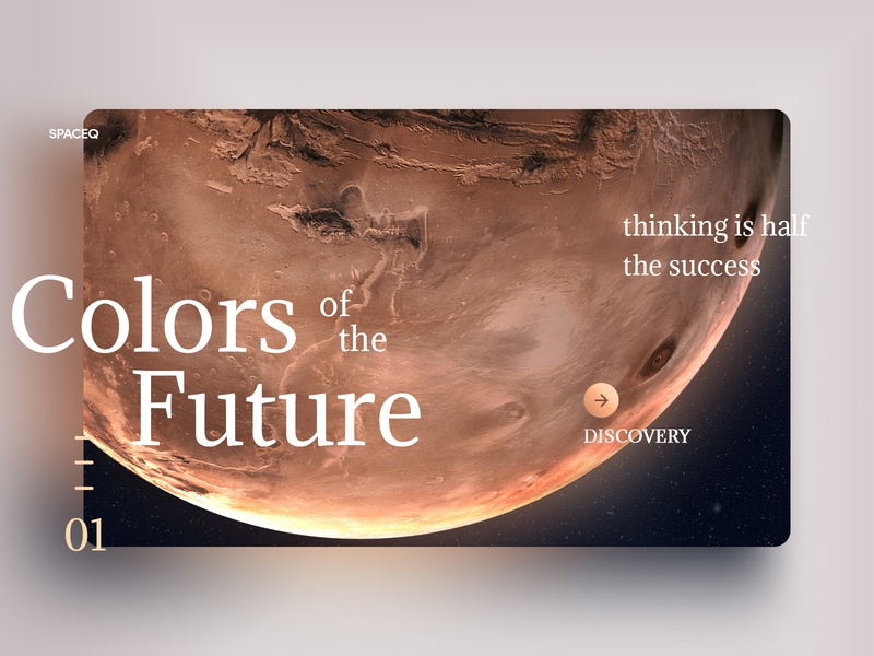 Colors of the Future palette color future mars typography web interface experience ux ui design