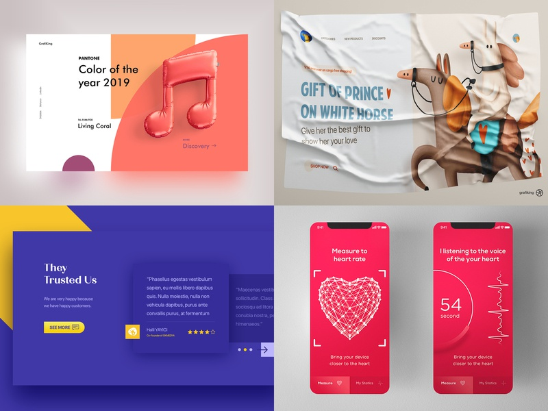 2018 mobile app user illustration typography web interface experience ux ui design