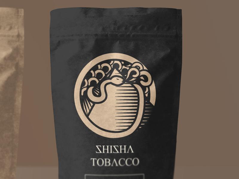 Shisha Tobacco vector icon illustration identity typography logo branding design