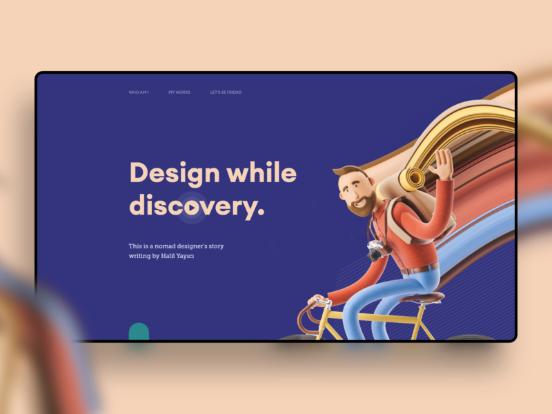 Design While Discovery. 🚴♂️ pixel stretch illustration typography web interface experience ux ui design