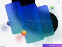 return paralogism blur screen mobile card return experimental video dribbble design