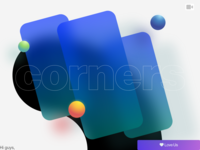 corners radius corner card design bubble card mobile screen blur experimental paralogism 3d video dribbble design