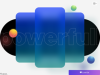 powerfull experimental blur powerfull mobile card 3d paralogism video dribbble design