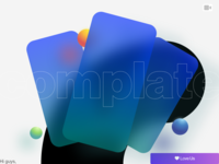 complate 3d bounce paralogism experimental app mobile card blur video dribbble design