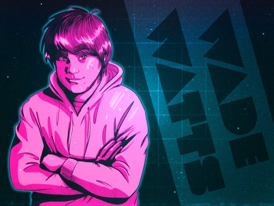 Wade Watts - Ready Player One character sketch illustration fan art 80s ready player one
