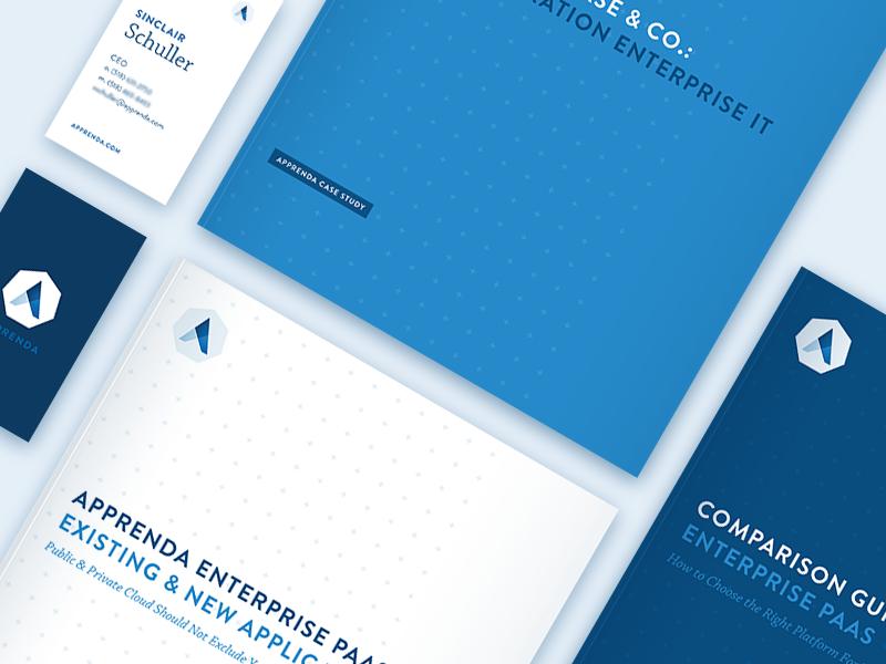 Apprenda Marketing Materials blue branding marketing collateral apprenda