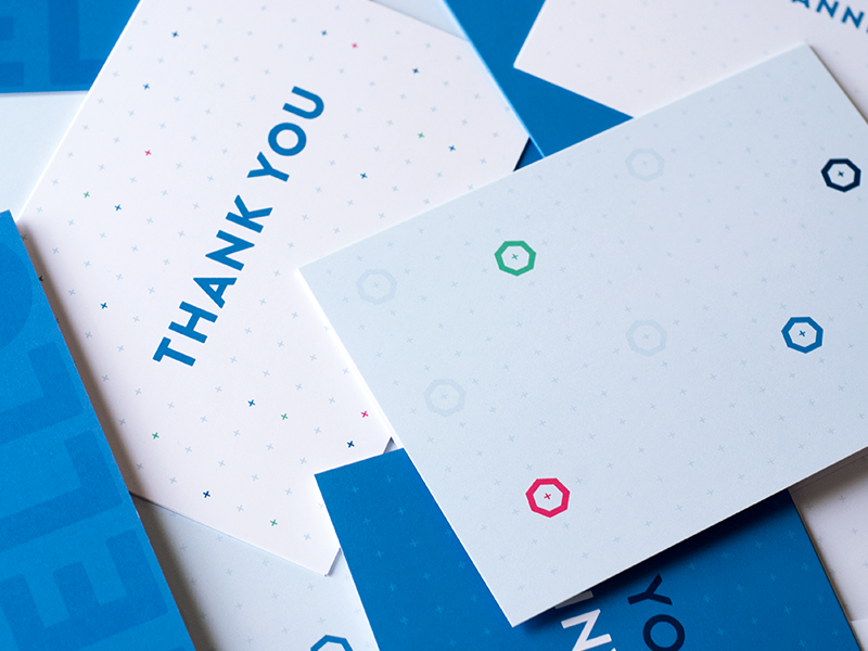 Greeting cards thank you greeting cards stationary apprenda blue heptagons