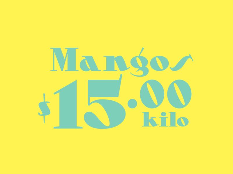 Mangos typography typeface