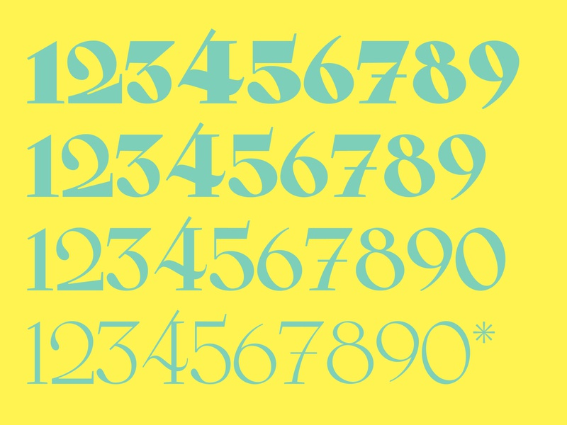 Numbers numbers typeface type typography