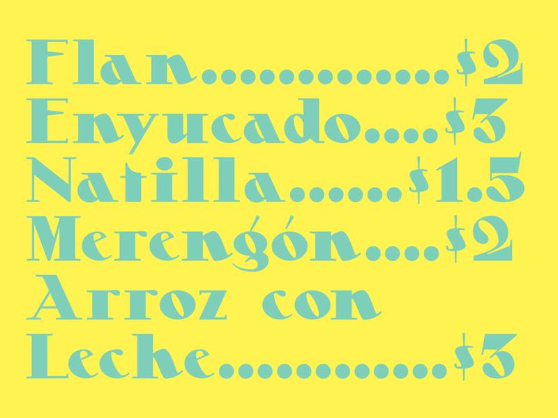 Dessert typography typeface design typeface