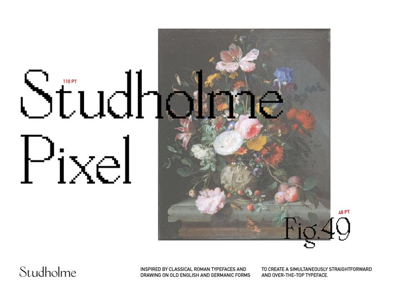 Studholme Pixel typeface typography type