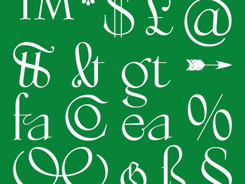 Studholme Glyphs typeface design typography type