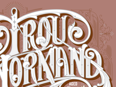 Beer stuff lettering victorian packaging label france normandy brandy calvados wip beer