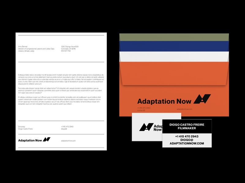 Adaptation Now Print Collateral letterheads print envelope collateral