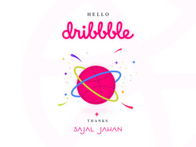 Dribbble First Shot illustration dribbble debut first shot