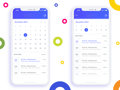 Calendar for a Traveler event calendar android ios meeting view notification reminder calendar