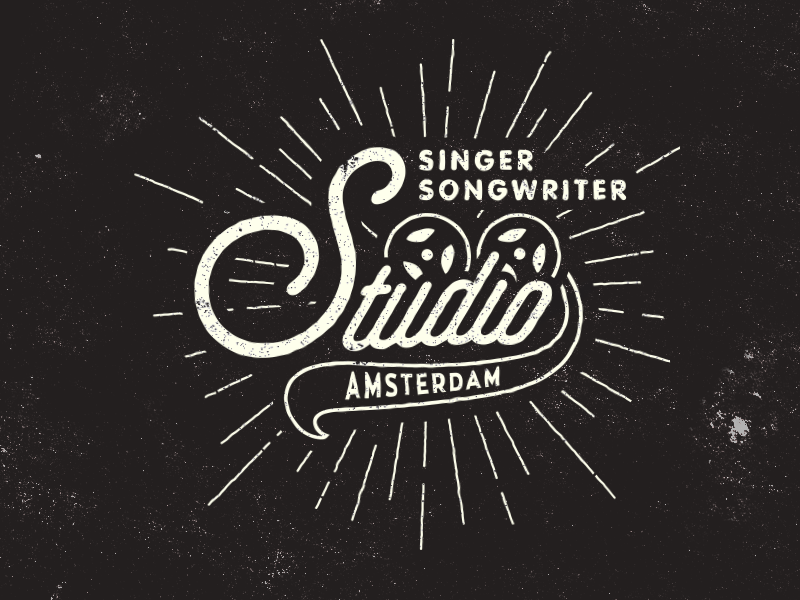 Logo for Singer Songwriter Studio  signage music vintage typography type texture sign retro old mark logo illustration
