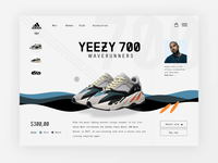 Adidas Yeezy Waverunner shop animation