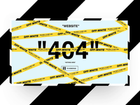 Off-White 404 animation page concept
