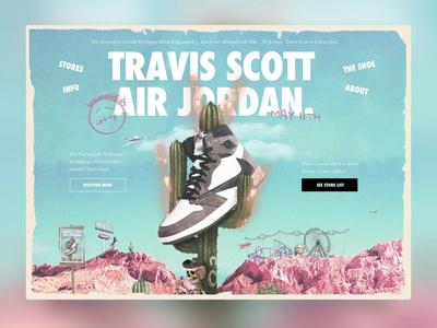 Travis Scott x Air Jordan 1 ''Cactus Jack'' website design