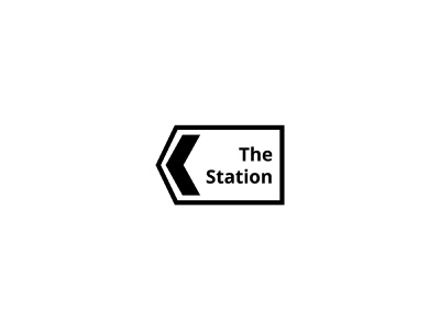 The Station Logo arrow station tech space coworking space coworking baghdad iraq icon design branding logo