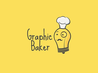 Graphic Baker Logo education training gentleman lamp chef yelow logo baker graphic