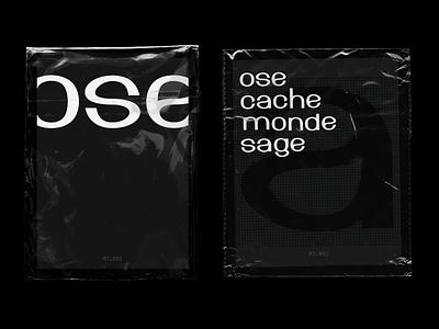 Font experimentation / MTL#01 experimental type handmade plastic wrap graphic design experiment typography font