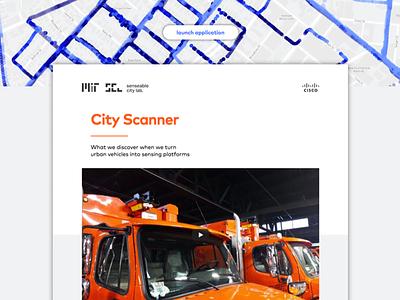 City Scanner mit website ui ux
