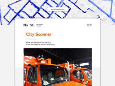 City Scanner mit website ui ux