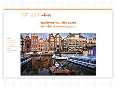 Roboat website new website ux senseable city lab mit roboat
