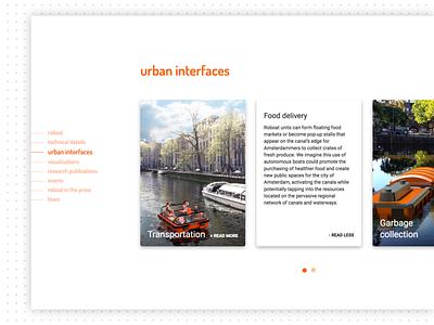 Roboat website — detail ui dropshadow card navigation menu detail ux website mit senseable city lab roboat
