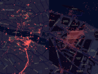First data visualization using Mapbox!