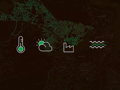 Custom icons ui design nature city illustration icons