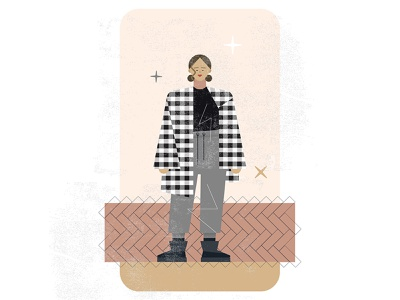 Fits: Doe Eyed Dear fashion illustration fashion vector art flat design vector illustration vector illustration