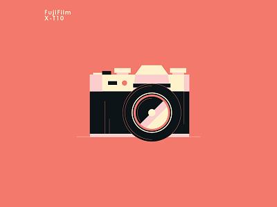 FujiFilm X-T10 digital camera design vintage retro illustration vector mirrorless camera xt10 fujifilm