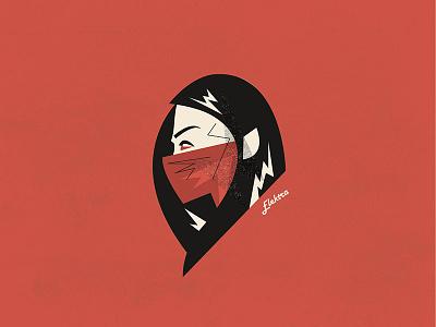Daredevil - Elektra  hells kitchen portrait vector illustration elektra daredevil netflix marvel