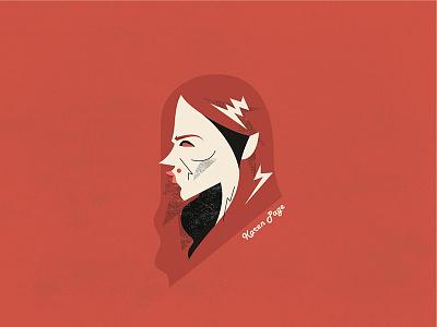 Daredevil - Karen Page portrait vector illustration deborah ann woll karen page karen daredevil netflix marvel