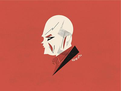 Daredevil - Wilson Fisk / Kingpin  portrait vector illustration wilson fisk king pin fisk kingpin netflix marvel