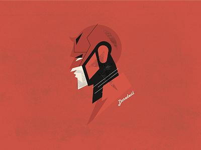 Daredevil portrait vector illustration superhero hero matt murdock murdock matt daredevil netflix marvel