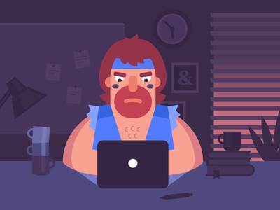 Design taught me… job office work designer ninja hero chuck norris blue design playoff illustration
