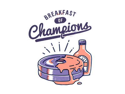 Breakfast of Champions workout maple syrup pancake champions weights lift dumbbell breakfast