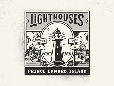 Lighthouses of Prince Edward Island atlantic postcard vintage black and white see trip summer pei canada lighthouse travel