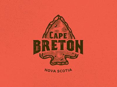 Cape Breton Island cape nature logo lettering arrow camping travel trip canada cape breton nova scotia