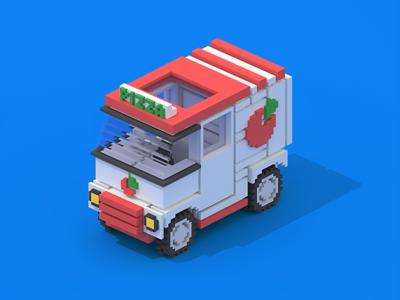 Voxel Pizza Van