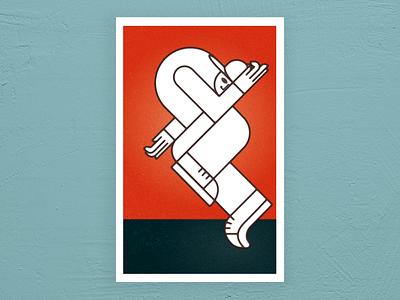 pop figures series - bboy geometric bboy dance dancer pop pop art abstract illustration illustrator vector poster