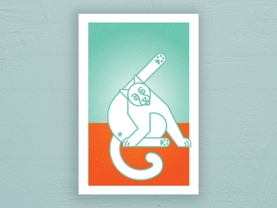 pop figures series - catbath geometric cute kitten kitty cat pop art abstract illustration illustrator vector poster