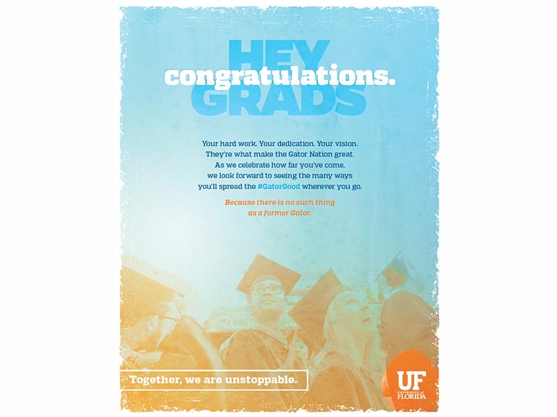 Print's not dead :) graduation ad print