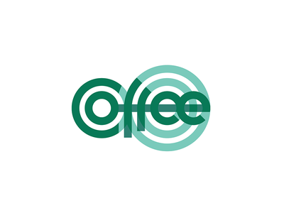 Coffee circles coffee typography geometry type