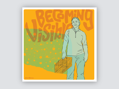 Gig Posters for Scientists - No. 3 women science gig poster portrait yellow vector illustration