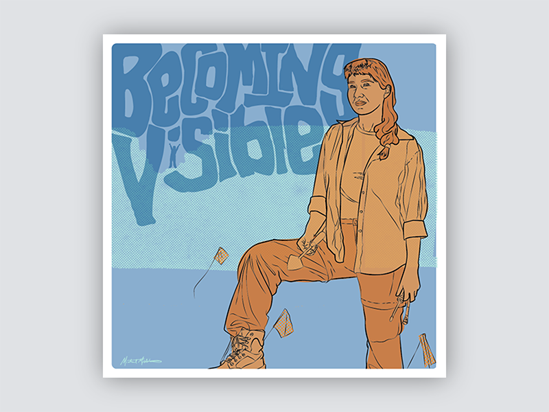 Gig Posters for Scientists - No. 2 women science gig poster portrait blue vector illustration